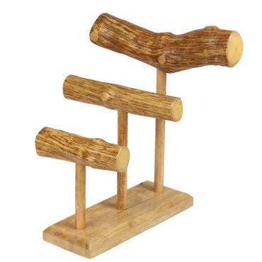 Schmuckständer Schmuckhalter Armbandhalter Uhrenhalter Armreifhalter Uhrenständer Armbandständer Schmuckständer Holz in Natur  – Bild 1