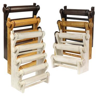 Armbandhalter Uhrenhalter Schmuckhalter Armreifhalter Uhrenständer Armbandständer Schmuckständer Rollen Holz – Bild 1