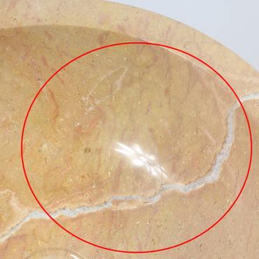 B-Ware Waschbecken Marmorwaschbecken poliert Steinwaschbecken Natur Bad Rund Marmor Stein Glatt 40 cm MB2 – Bild 4