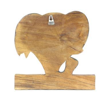 Kindergarderobe Garderobenleiste Hakenleiste Holzgarderobe Kindermöbel Elefant 3 Haken Holzfarben Natur Limboholz Holz  – Bild 3