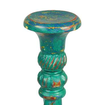 Kerzenhalter Kerzenständer Säule Ständer Gedreht Dekosäule  Dekoration Kerze 100 cm Türkis – Bild 2