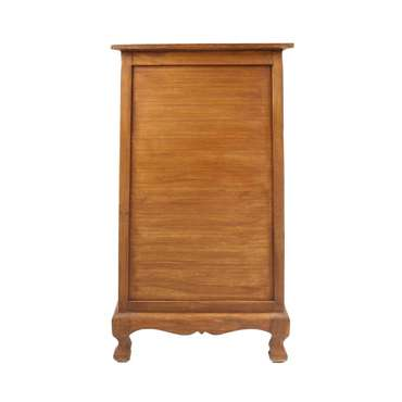 Flurschrank 100cm Braun Barock Holz Dielen Schrank Wohnzimmer Akazie Elefanten Muster Verzierung – Bild 5