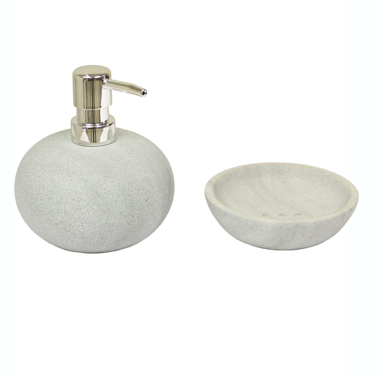 20er Badezimmer Set Seifenspender aus Basanit mit Seifenschale ...
