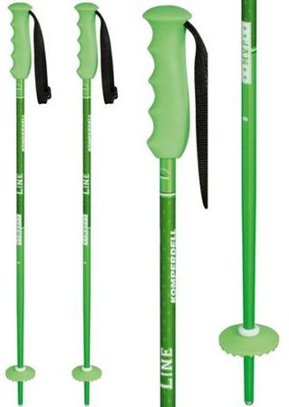 KOMPERDELL Offense GREEN Kinder Skistock