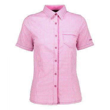 CMP Damen Bluse HOT PINK-BIANCO