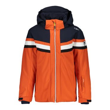 BOY JACKET SNAPS HOOD ORANGE