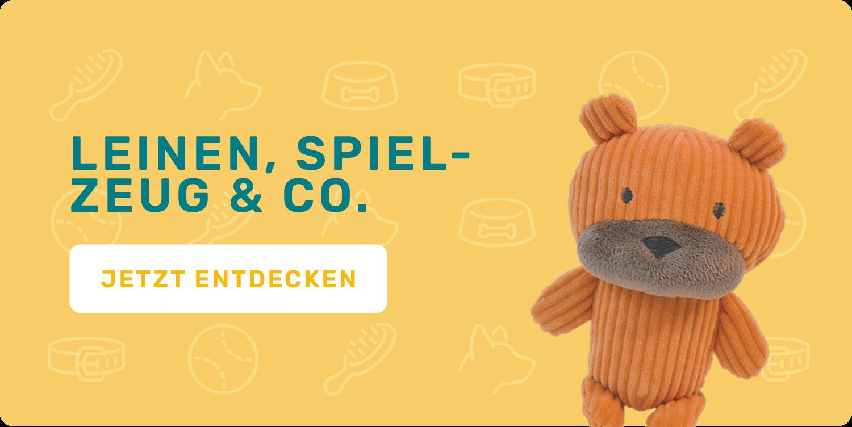 Leinen,  Halsbänder & Spielzeug etc.