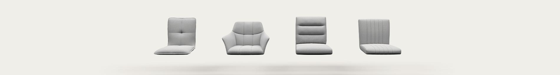 verschiedene Sitzschalen