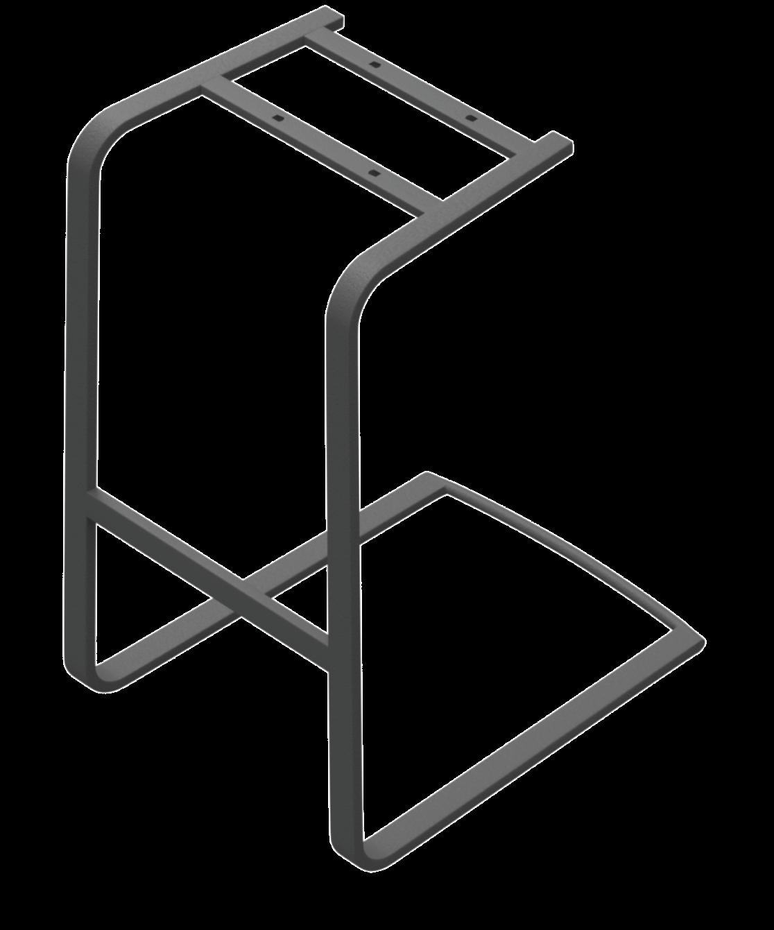 Sitzgestell Freischwinger flach