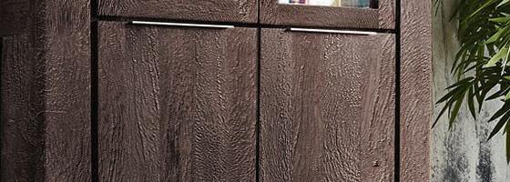 Blokk Möbel in Farbe Tabak