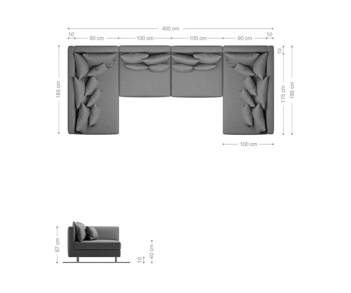 Clovis - Wohnlandschaft XL mit Maße