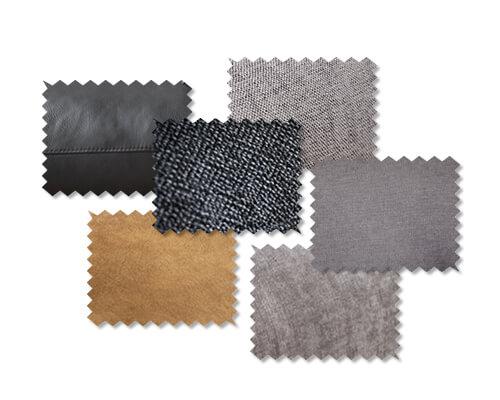 ES brand - Matériaux comme échantillons de tissus