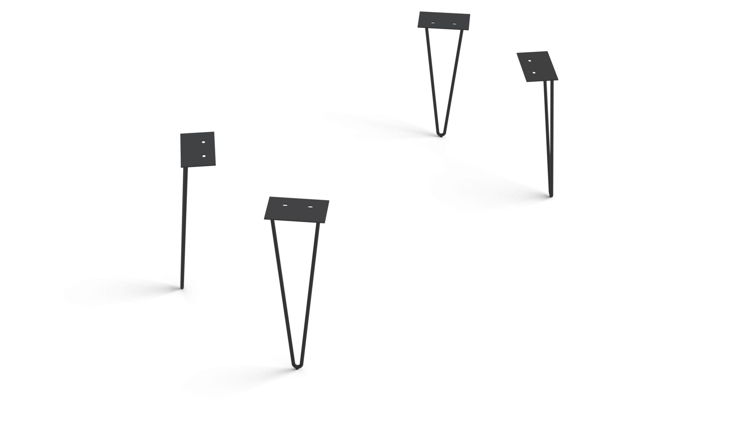 Eettafelvoet Edge series 200cm hairpin zwart