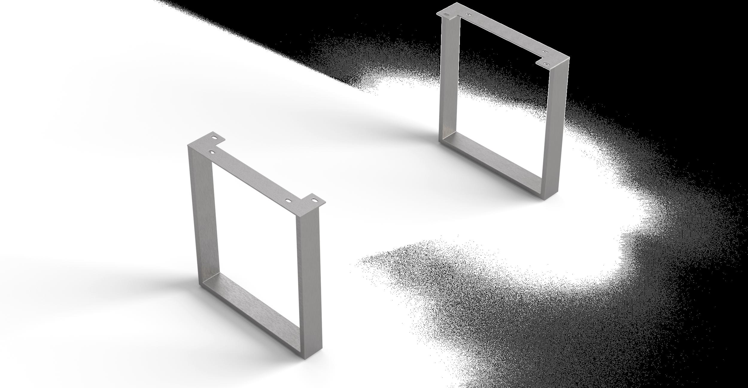Eettafelvoet Edge series 200cm smal