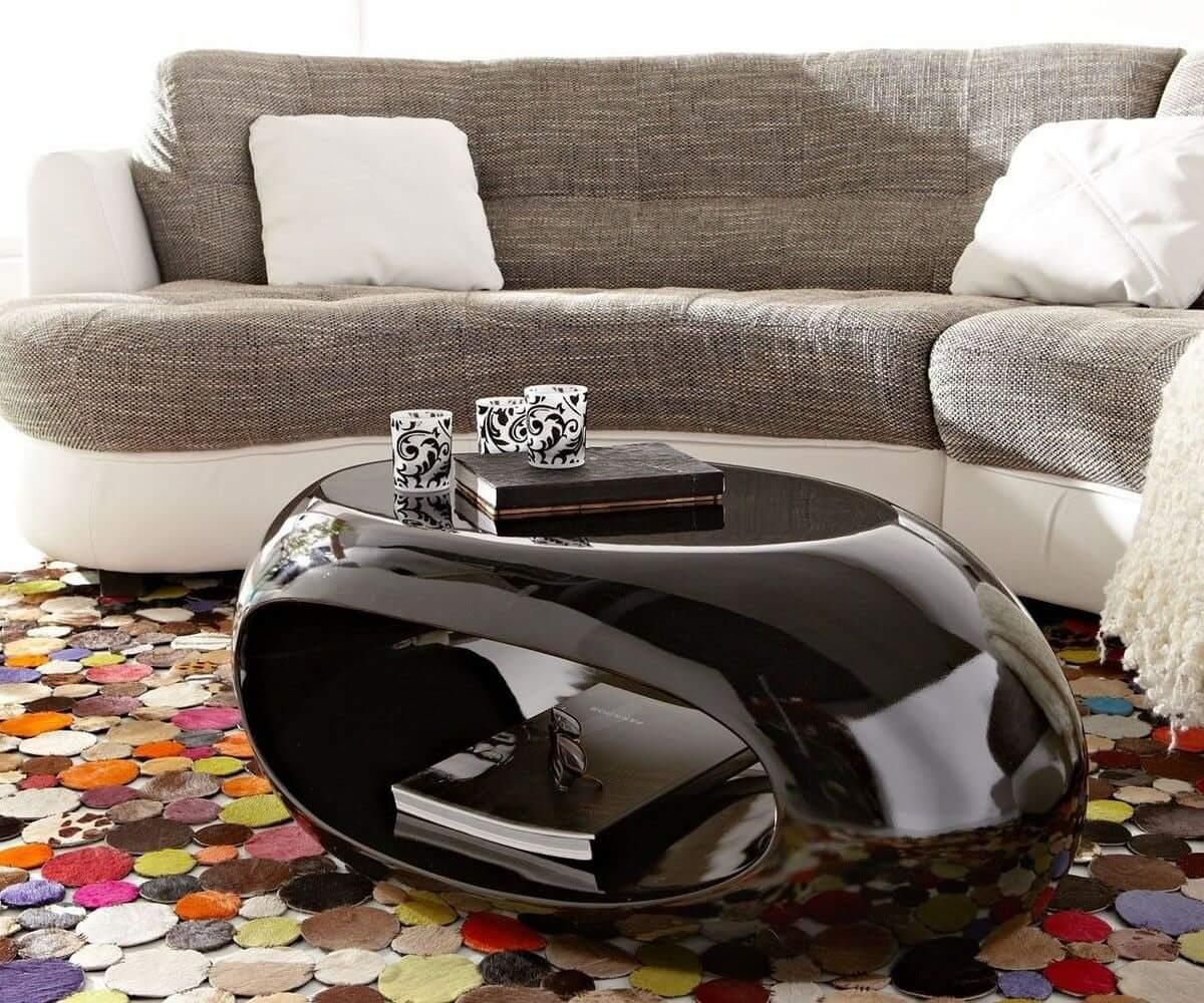 Hochglanz Möbel in Schwarz