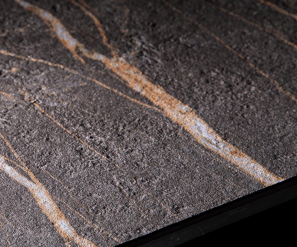 Keramik Tischplatte Laminam Oberfläche in Detailaufnahme