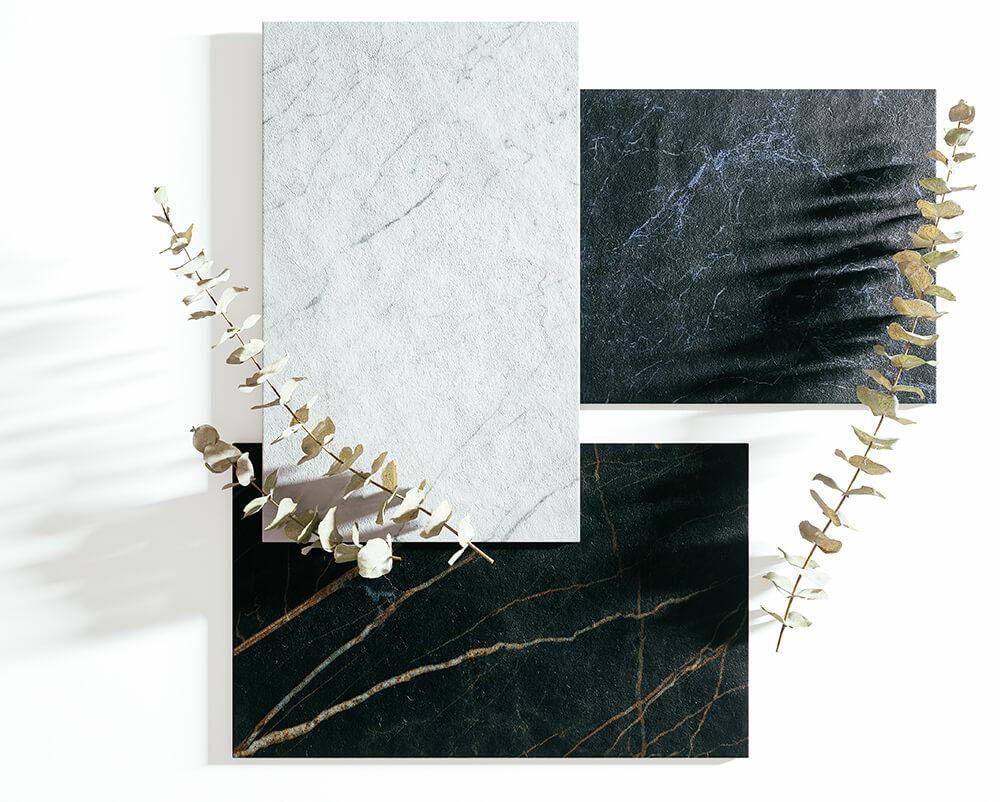 Keramik Tischplatten Farbcollage