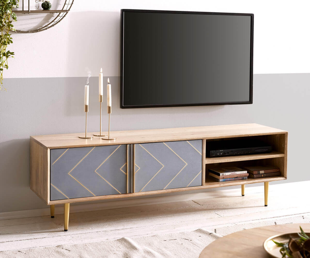 Mangohout TV-meubel