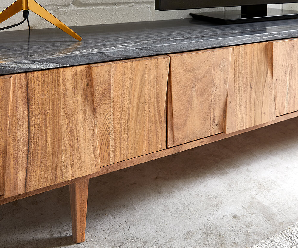Shia Sideboard in Akazie Natur frontale Ansicht