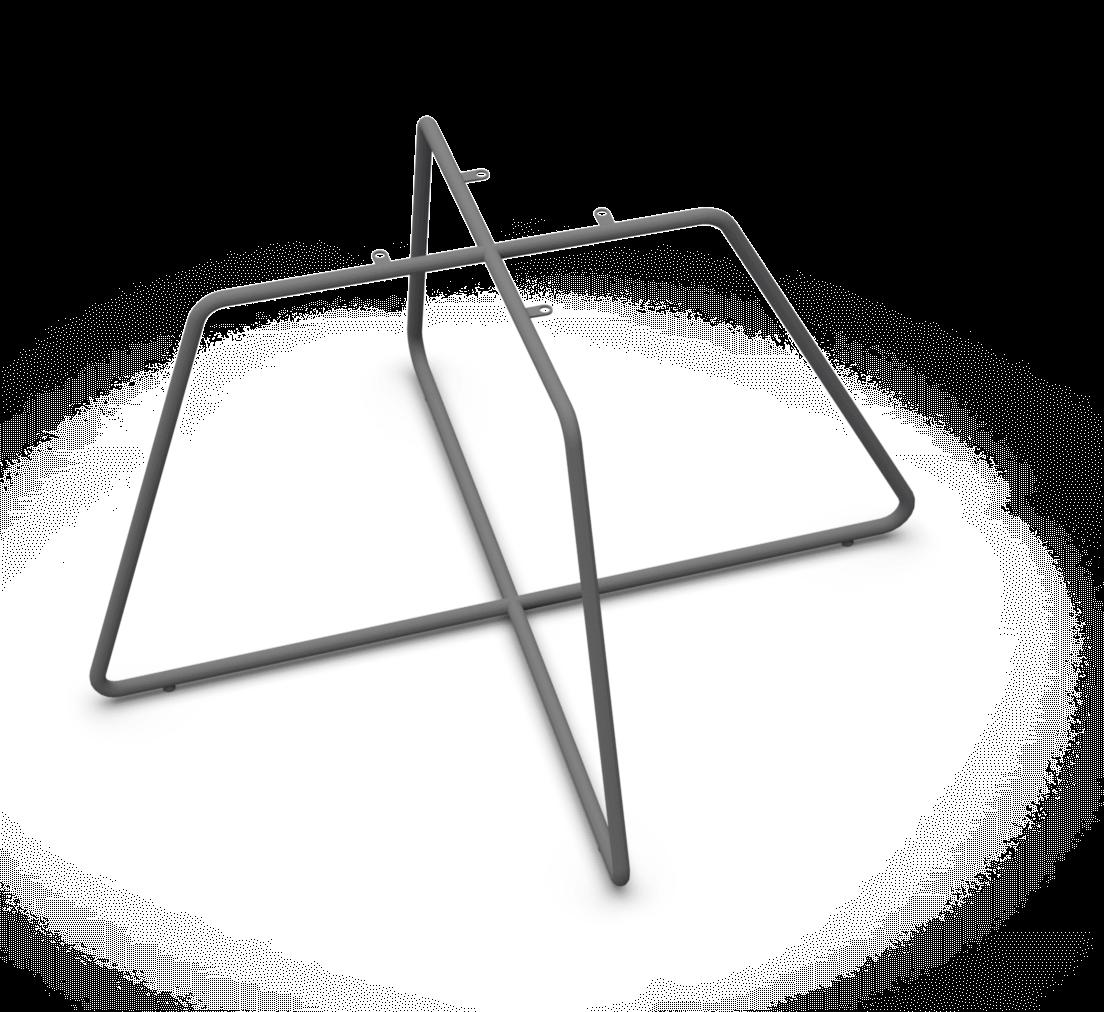 Sitzgestell Kreuzgestell Kantig