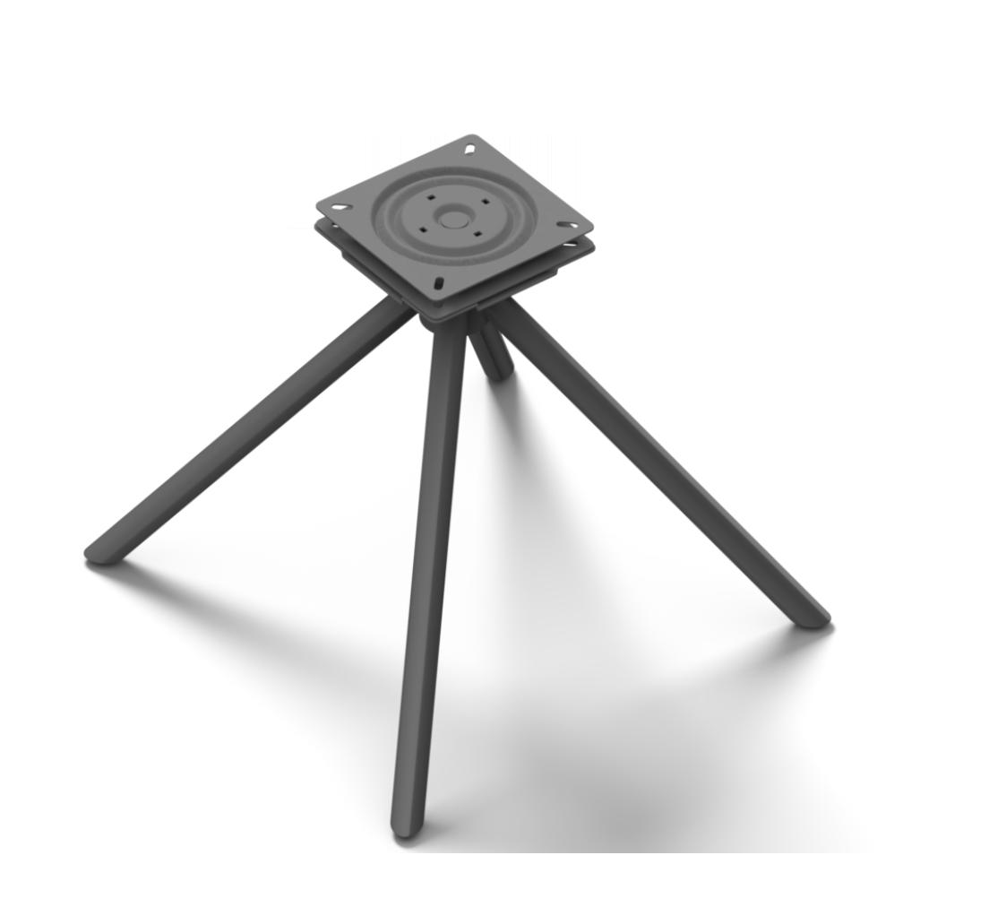 Sitzgestell Kreuzgestell Rund