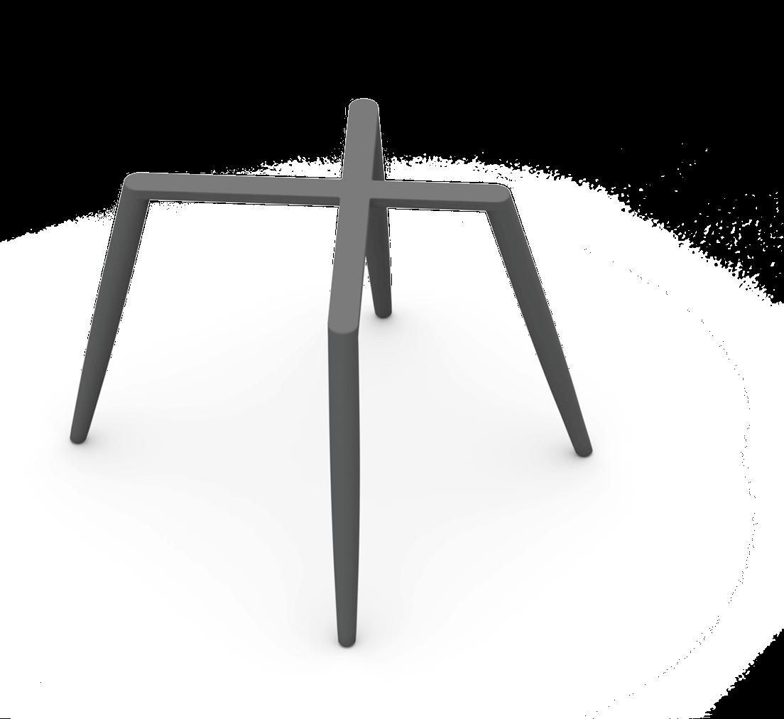 Sitzgestell 4-Fuß konisch