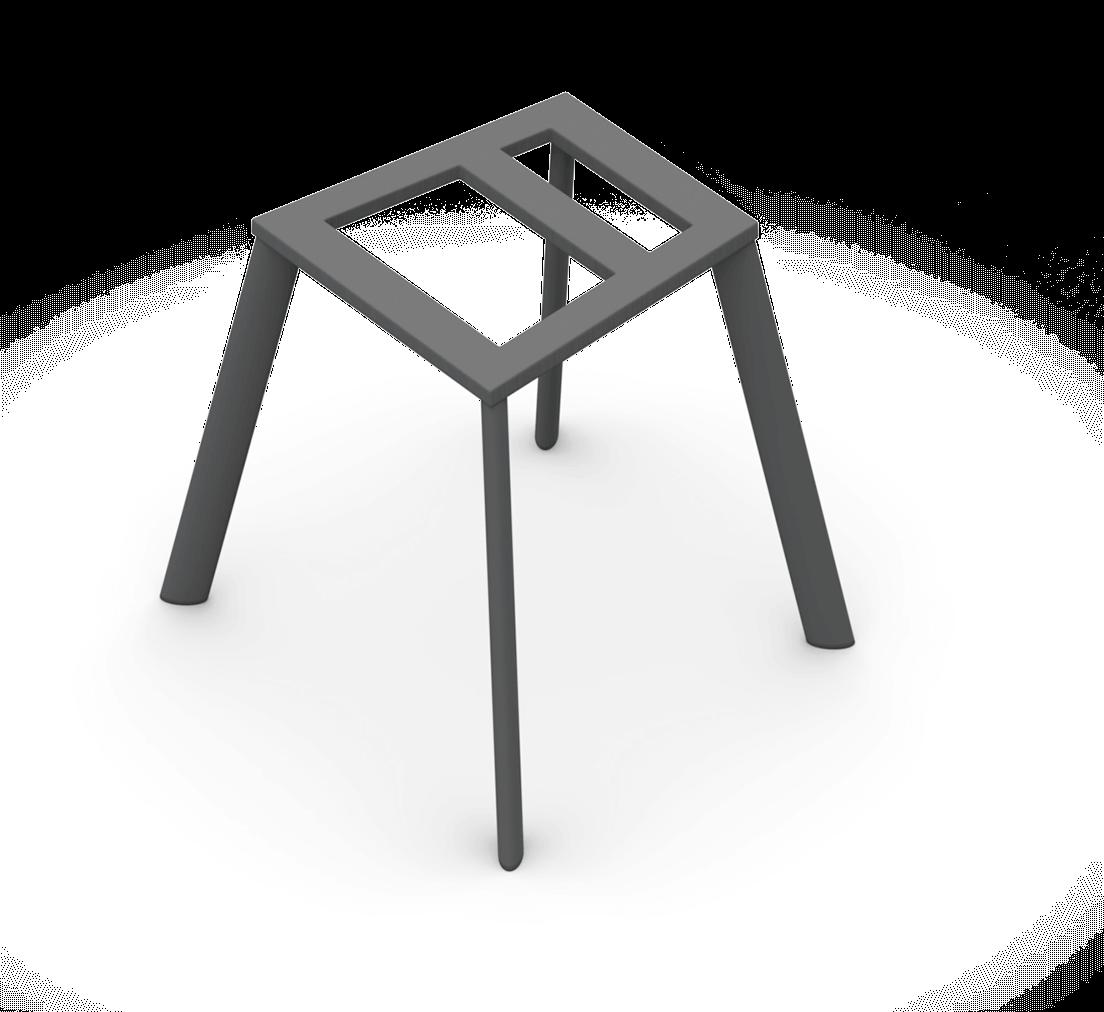 Sitzgestell 4-Fuß oval