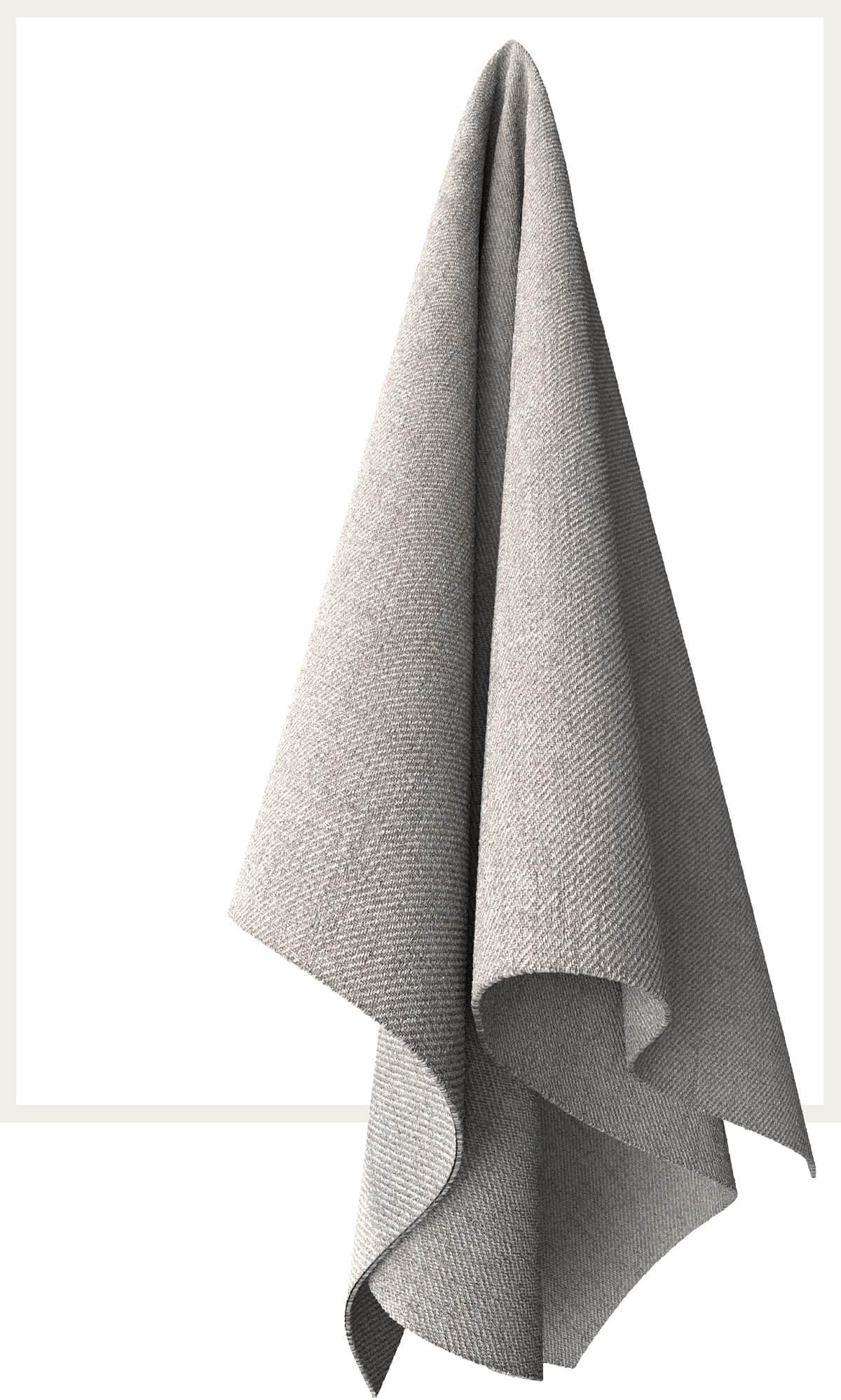Strukturstoff Stripes Hellgrau