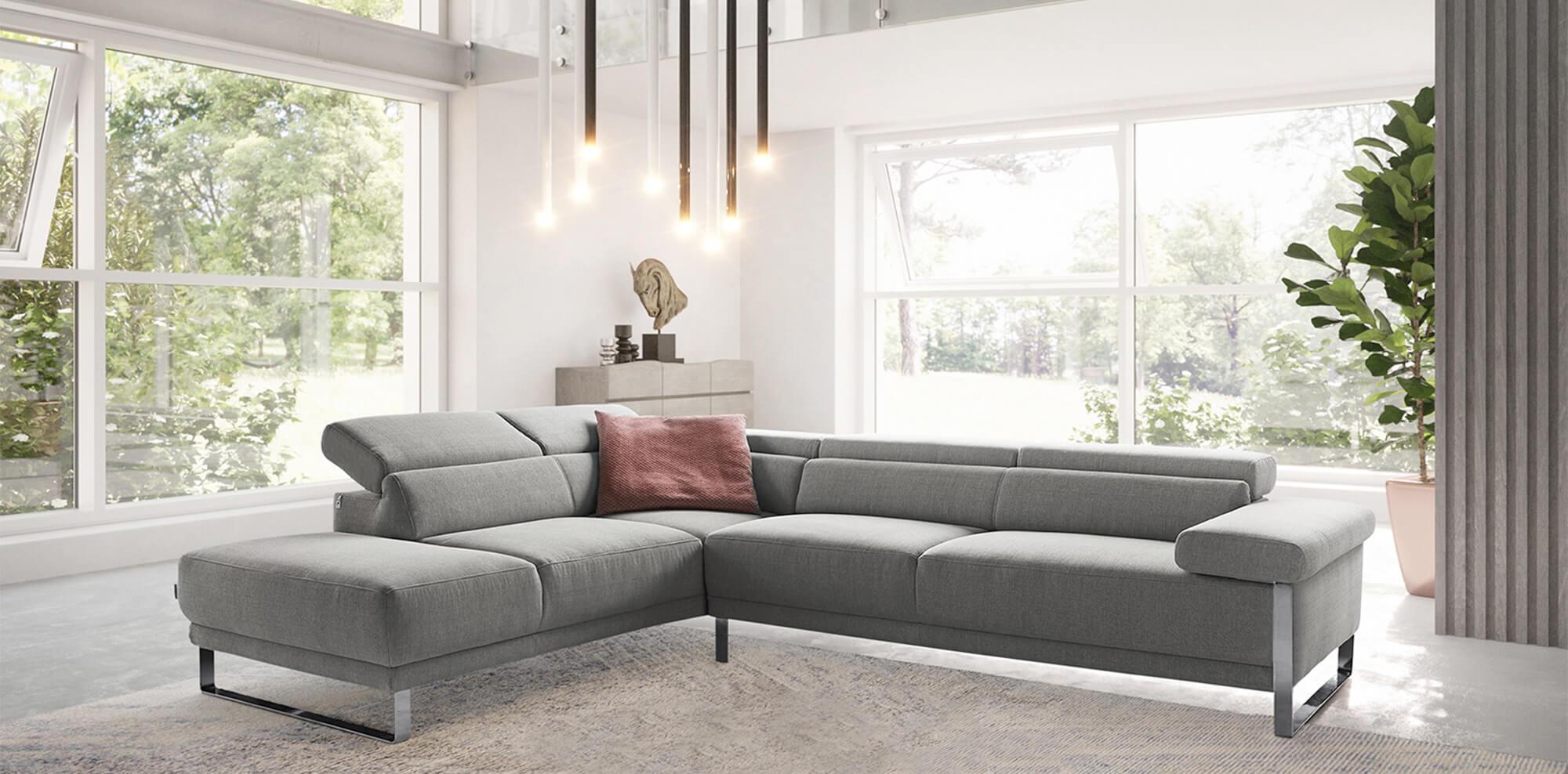 W.SCHILLIG - Braunes Sofa von oben