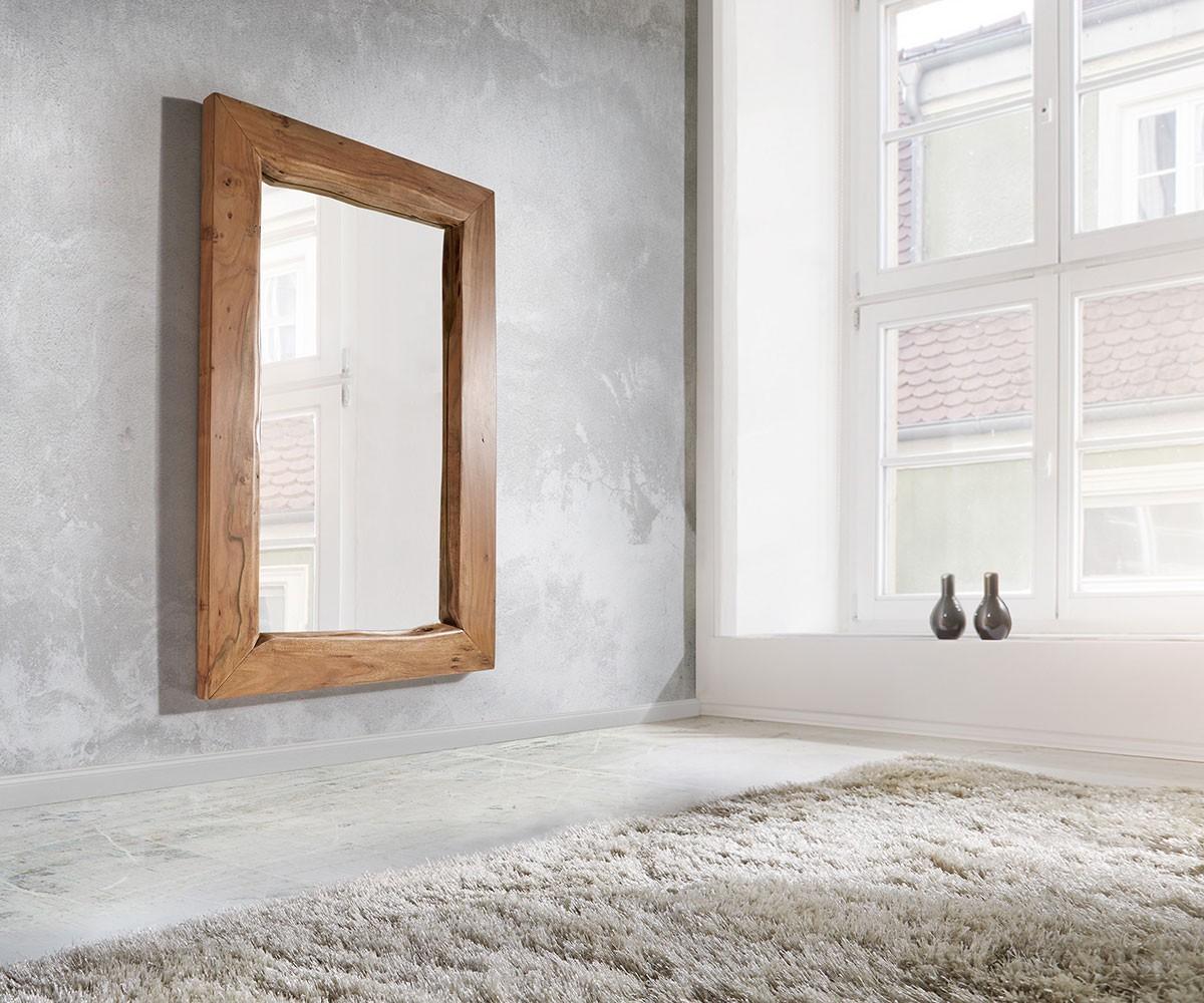Wandspiegel Live-Edge 135x85 cm Akazie Natur Baumkante