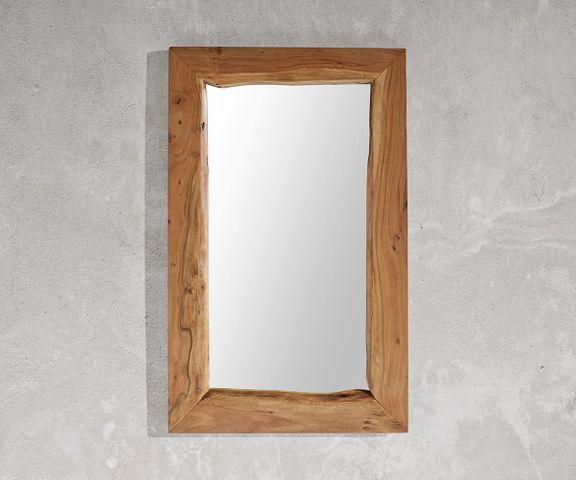 Wandspiegel Live-Edge 135x85 cm acacia natuur boomrand 2
