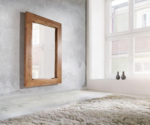 Wandspiegel Live-Edge 135x85 cm acacia natuur boomrand 1