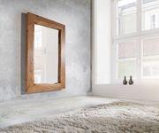 Spiegel Live-Edge Akazie Natur 135x85 cm massiv Baumkante Wandspiegel [10145]