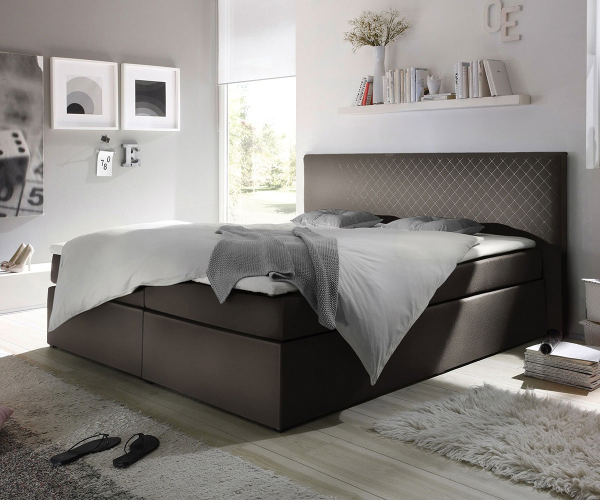 boxspringbett stafford 180x200 cm grau abgesteppt m bel. Black Bedroom Furniture Sets. Home Design Ideas