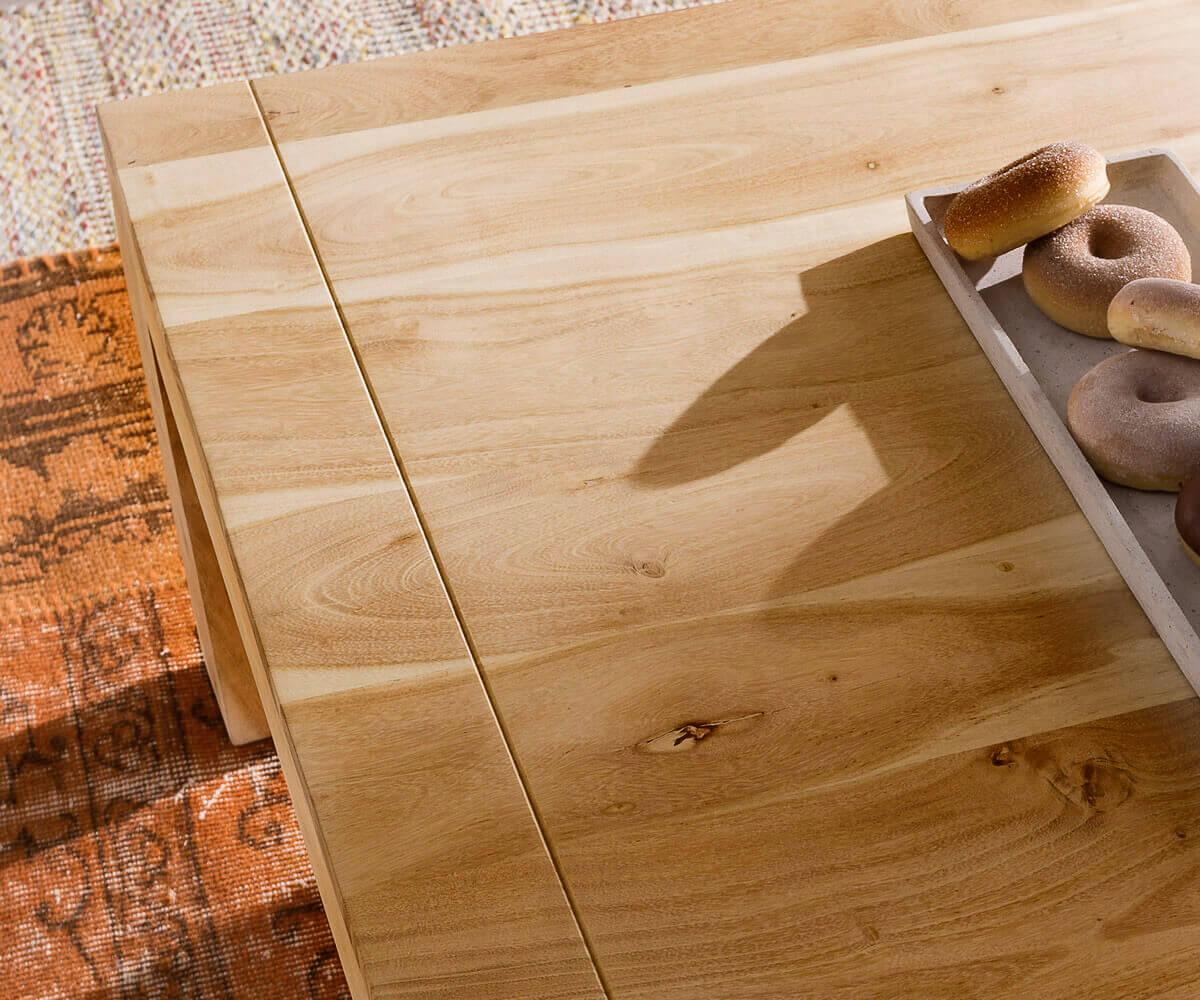 Couchtisch Indra Akazie Natur 80x80 Cm Massivholz Möbel Tische