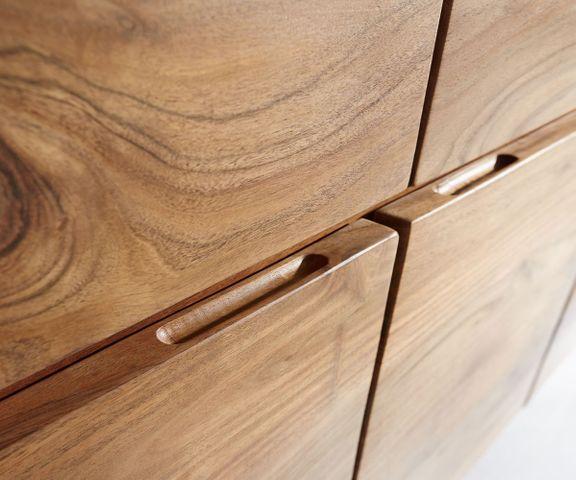 Dressoir Live-Edge 147 cm acacia natuur 3 deuren 3 laden 2