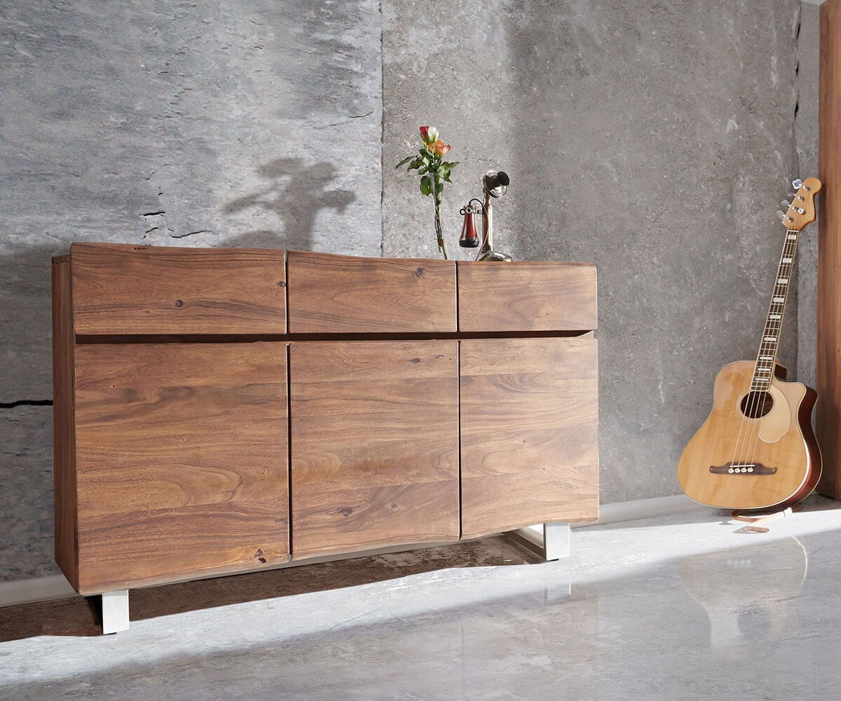 delife-sideboard-live-edge-147-cm-akazie-braun-3-turen-3-schube-sideboards-baumkantenmobel-massivholzmobel-massivholz-baumkante-wolf-live-edge