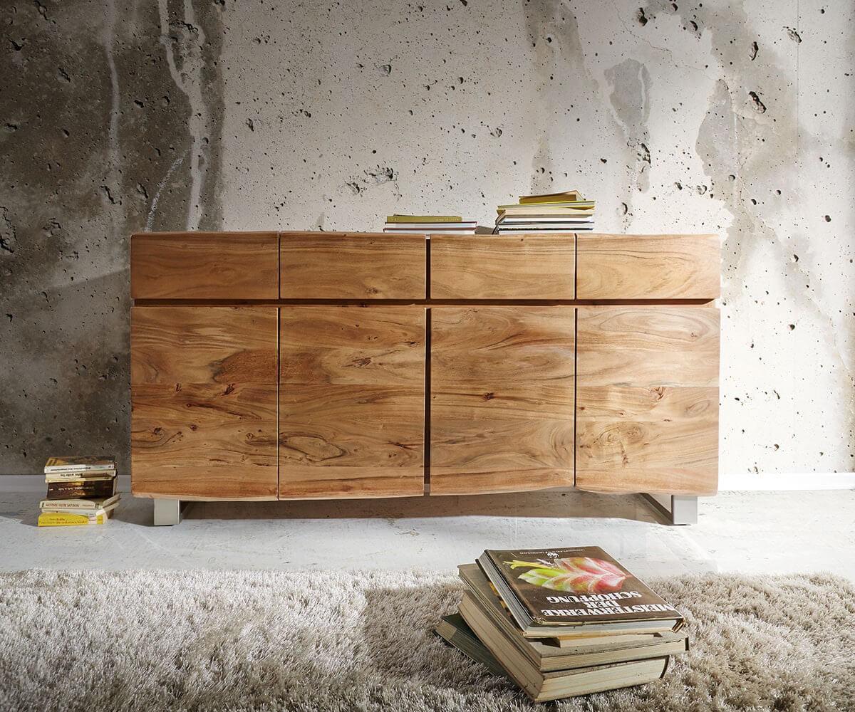 delife-sideboard-live-edge-172-cm-akazie-natur-4-turen-4-schube-sideboards-baumkantenmobel-massivholzmobel-massivholz-baumkante-wolf-live-edge