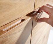 Kommode Live-Edge Akazie Natur 172 cm 4 Schübe 4 Türen Baumkante Sideboard [11309]