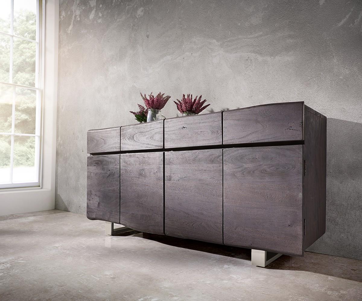 sideboard live edge 172 cm akazie tabak 4 t ren 4 sch be. Black Bedroom Furniture Sets. Home Design Ideas