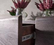 Kommode Live-Edge Akazie Tabak 172 cm 4 Schübe 4 Türen Baumkante Sideboard [11311]
