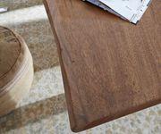 Massivholztisch Live-Edge Akazie Braun 140x90 Platte 5cm Gestell breit Baumtisch [10300]