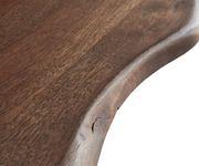 Massivholztisch Live-Edge Akazie Braun 140x90 Platte 3,5cm Gestell schräg schwarz Baumtisch [10311]