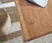 Massivholztisch Live-Edge Akazie Natur 140x90 Platte 3,5cm Gestell schmal Baumtisch [10337]