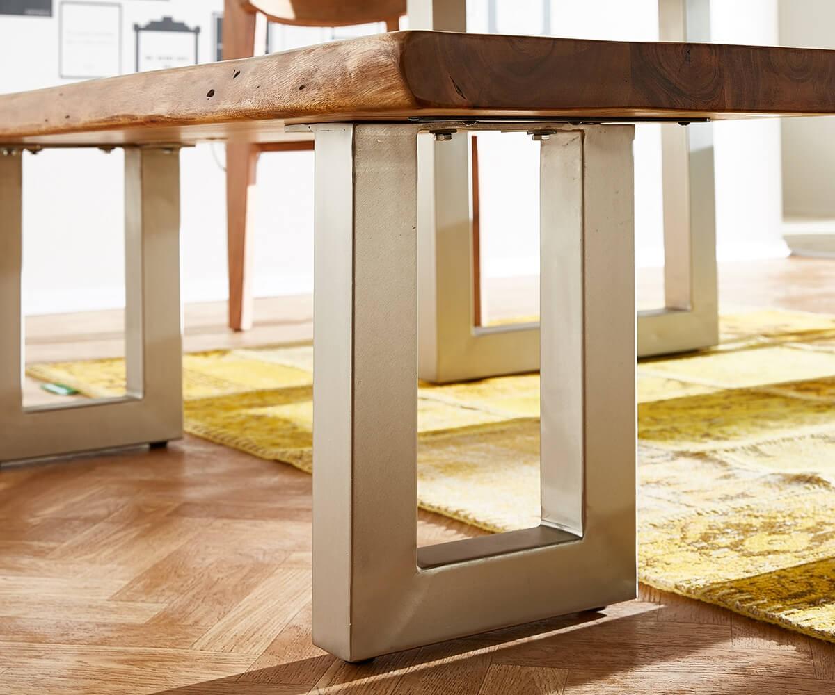 sitzbank live edge 135x40 akazie natur gestell breit m bel. Black Bedroom Furniture Sets. Home Design Ideas