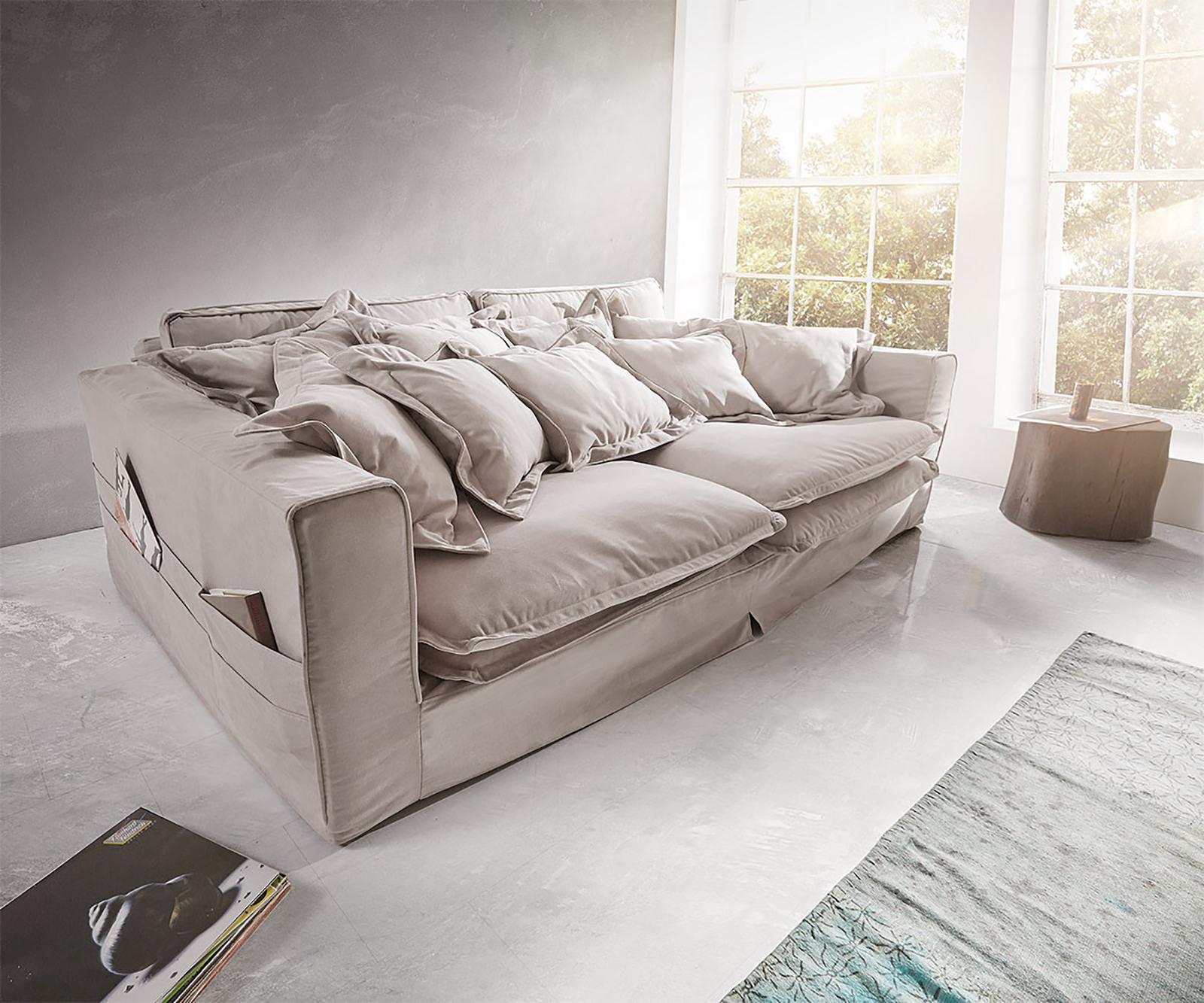 delife-hussensofa-noelia-240x145-cm-hellgrau-mit-kissen-big-sofas
