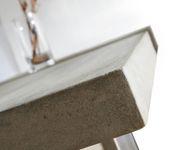 Esszimmertisch Zement Grau 140x90 cm Gestell schmal Beton Esstisch [10379]