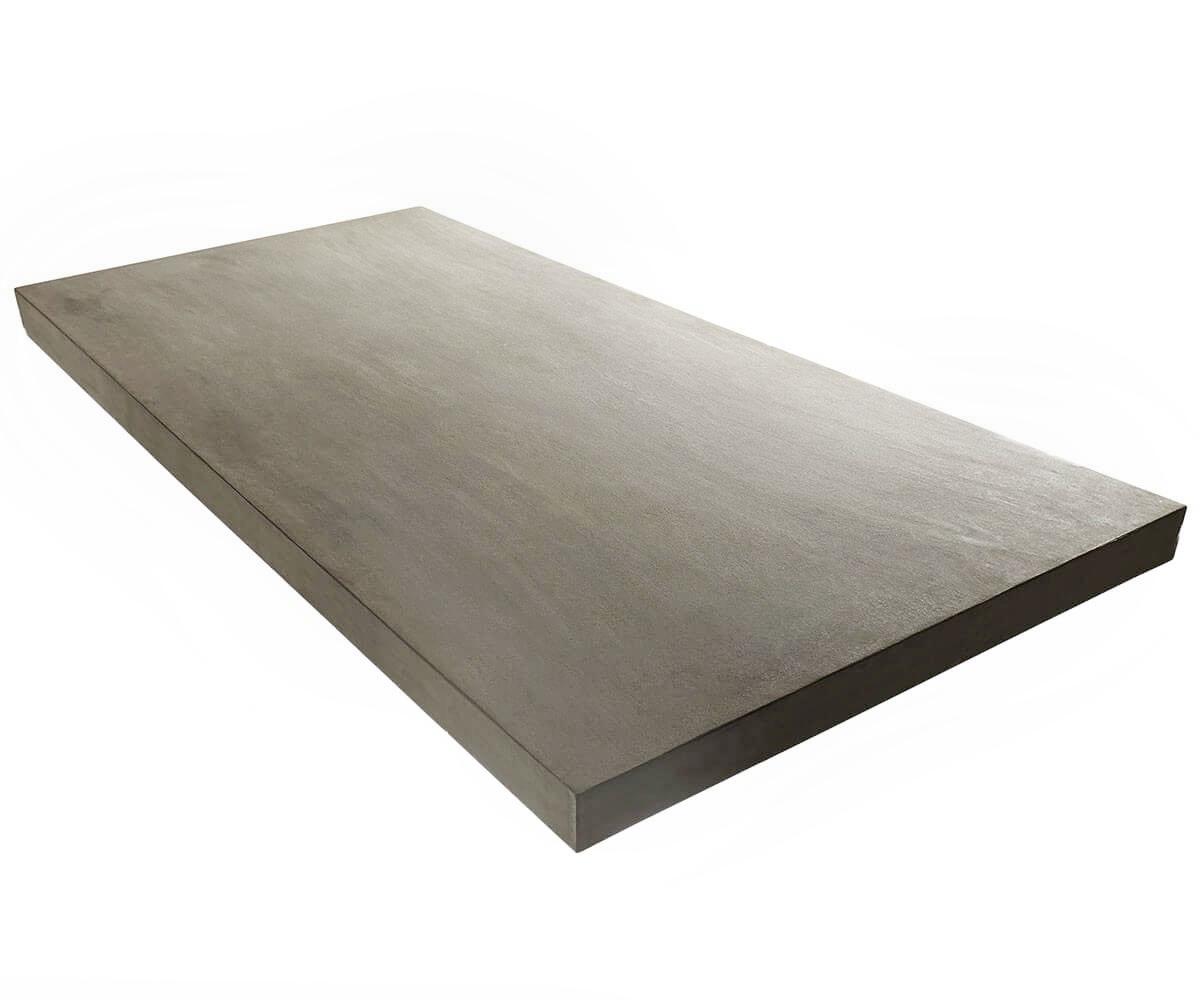Esszimmertisch zement grau 200x100 cm gestell edelstahl for Esszimmertisch holz grau