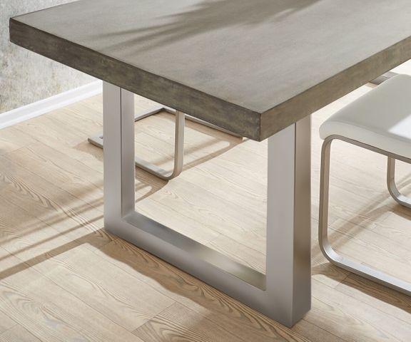 Eettafel cement 260x100 grijs beton optiek frame breed 2