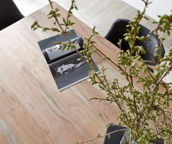Eettafel Indra sheesham natuur 200x100 cm massief hout  3